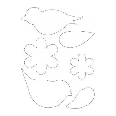 Шаблон птица для поделки