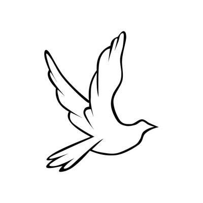 Трафарет птицы для аппликации