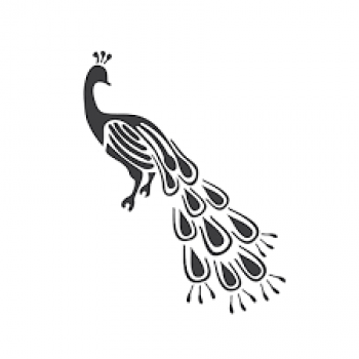 Шаблон птицы для вырезания
