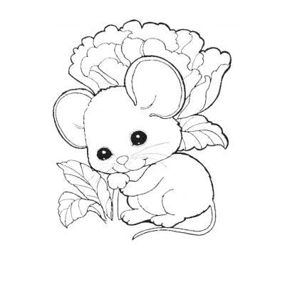 Раскрасить мышку