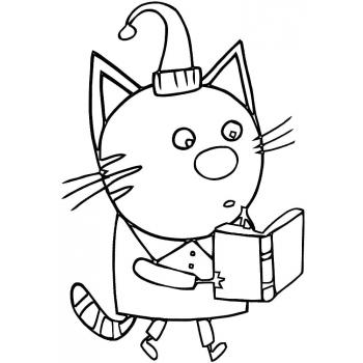 Раскраски 3 кота - распечатать, скачать бесплатно