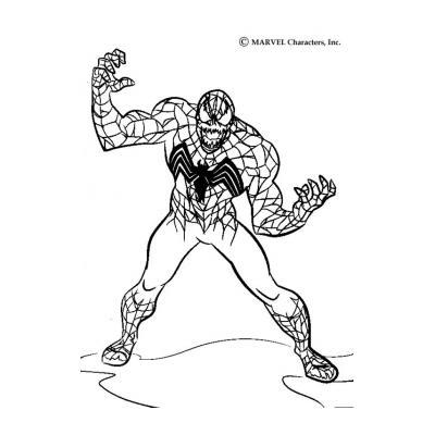 Раскраска Веном - враг Человека паука