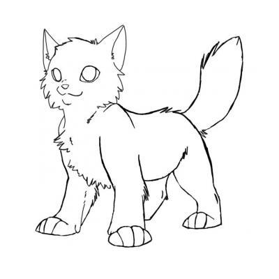 Распечатать раскраску котов воителей