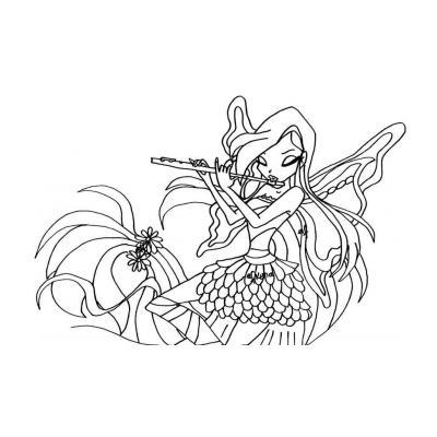 Раскраска Winx Гармоникс