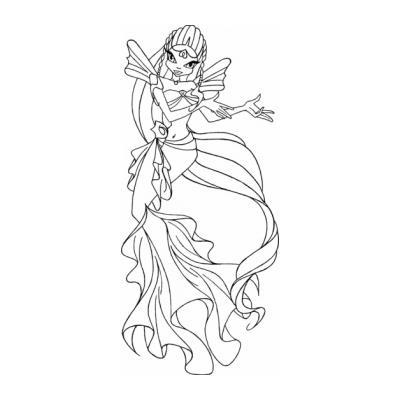 Раскраска русалок винкс