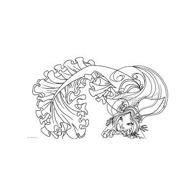 Раскраска Винкс - русалки