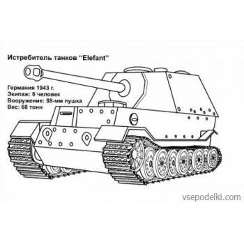 Раскраска Танки из World of tanks(world-of-tanks-raskraska-12)