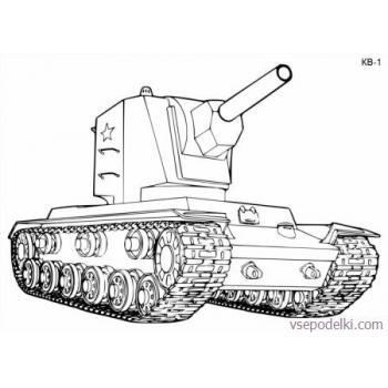 Раскраска Танки из World of tanks(world-of-tanks-raskraska-14)