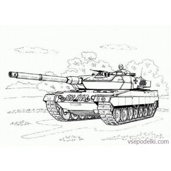 Раскраска Танки из World of tanks(world-of-tanks-raskraska-25)