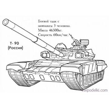 Раскраска Танки из World of tanks(world-of-tanks-raskraska-8)