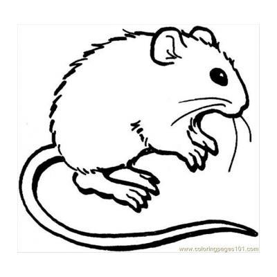 Распечатать раскраску с мышкой