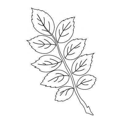 Шаблон для гирлянды из листьев