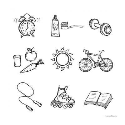 Раскраски Здоровый образ жизни (ЗОЖ) - распечатать, скачать бесплатно