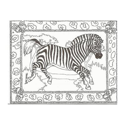 Зебра житель саванны