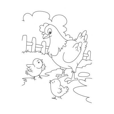 Раскраска животные и их детеныши - распечатать, скачать бесплатно