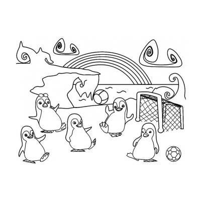 животные севера - раскраска для детей