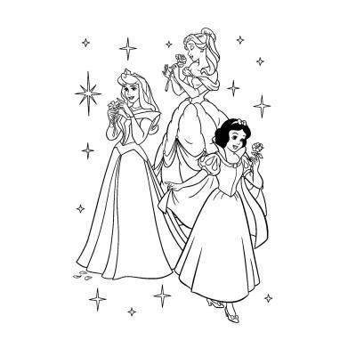 Раскраска Принцесса